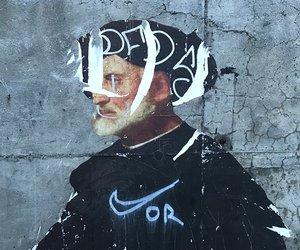 Image: Graffiti over classic art (c) Henrik Donnestad