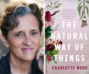 Charlotte Wood (c) Wendy McDougall and book cover for The Natural Way of Things