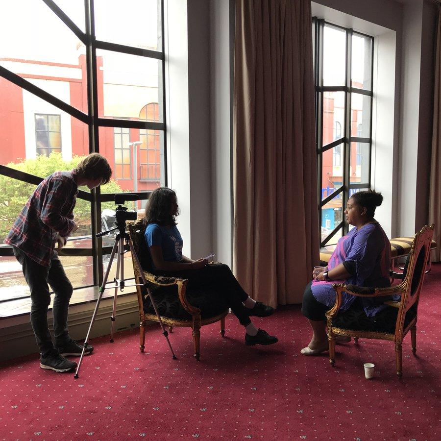 Student Ambassadors interview Festival Artist Director